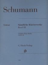 (Schumann) Piano Works, Volume III